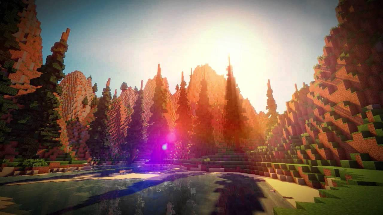 Hd Wallpaper Pack Quot Reflections Quot Minecraft Cinematic W Real Clouds