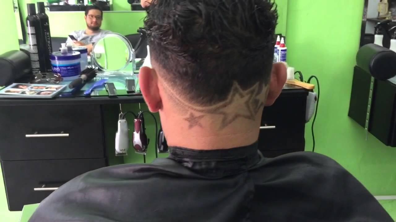 Cortes con dise os y tribales en el pelo estrellas youtube for Disenos de pelo