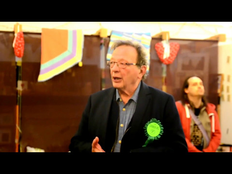 Larry Sanders at the Oxford East campaign launch party