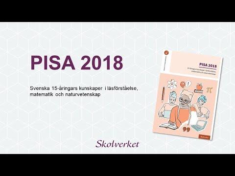 PISA 2018: Presskonferens 2019-12-03