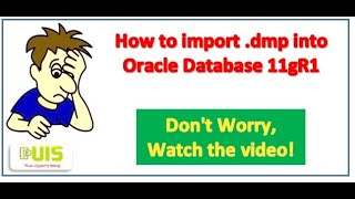 How to import .dmp file into Oracle Database
