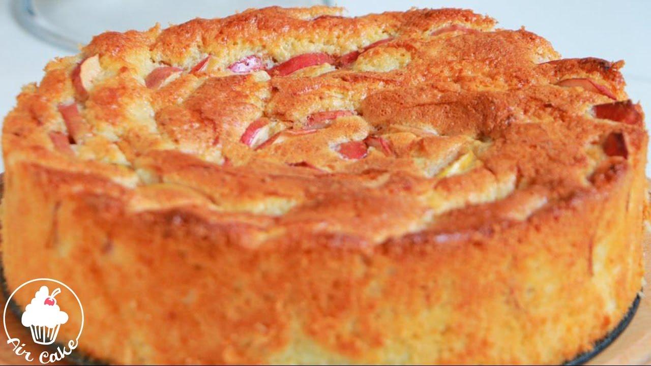 Пирог шарлотка рецепт с яблоками простой рецепт из сметаны