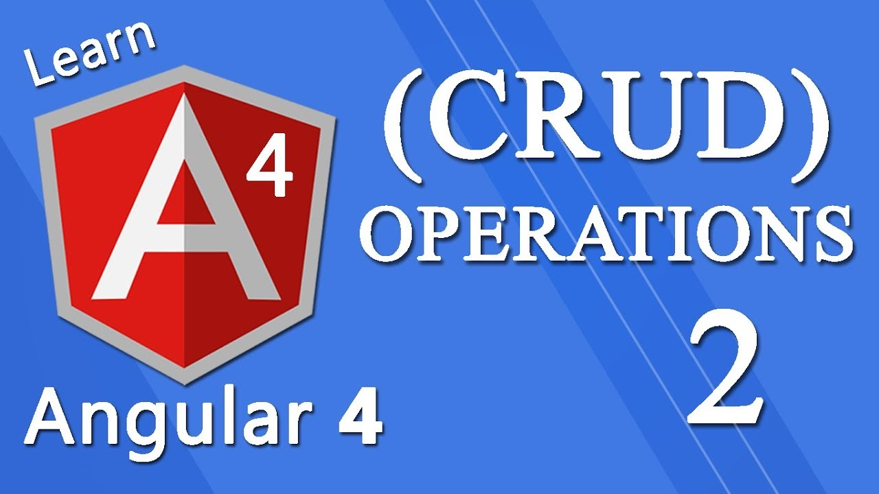 Angular 4 Tutorial - CRUD Operations (get/put/post/delete) #2 by Awais Mirza