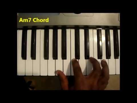 How To Play Amin7 Chord A Minor Seventh Am7 On Piano Keyboard