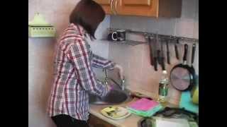 видео Бамбуковая тряпочка (кухонное полотенце) для мытья посуды