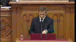 Választás 2010 - Bajnai Gordon búcsúbeszéde a Parlamentben 1.rész