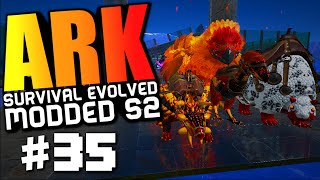 ark survival evolved badass terror bird taming alpha doedicurus taming modded 35 ark gameplay
