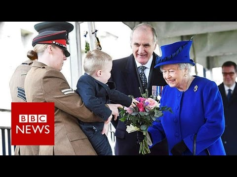 Thumbnail: Boy reluctant to meet the Queen - BBC News