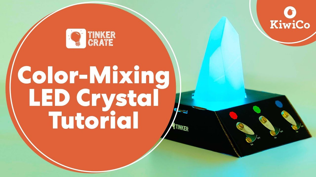 cffb003e9 Make a Color-Mixing LED Crystal - Tinker Crate Project - YouTube