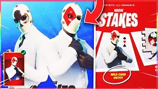 "How TO GET ""WILD CARD"" SKIN in Fortnite! (Fortnite High Stakes Event) - NEW WILDCARD SKIN!"