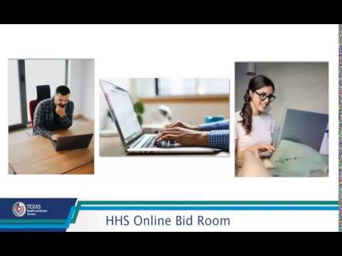 Introduction to HHS Online Bid Room Tutorial - 1 of 2 thumbnail