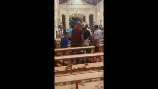 Attentati in Sri Lanka: la devastazione all'interno della chiesa di Sant'Antonio a Colombo