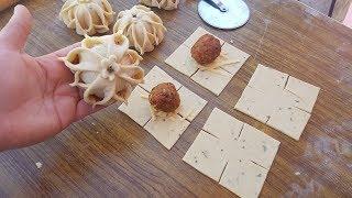حصريا?فطائر تحفة محشوة بشكل جديد رائعة ورطبة اهش من القطن بدون حليب بدون خميرة حلويات/شهيوات رمضان