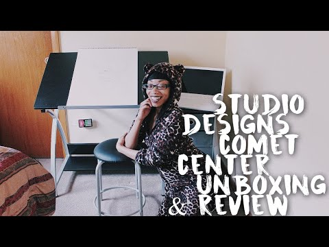 I finally got a real desk! | UNBOXING Studio Designs Comet Center