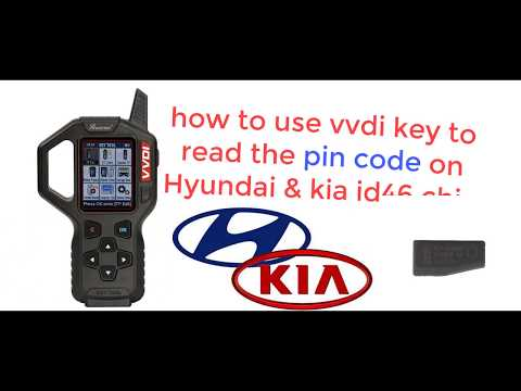 vvdi key tool read pin code Hyundai kia שכפול מפתחות לרכב