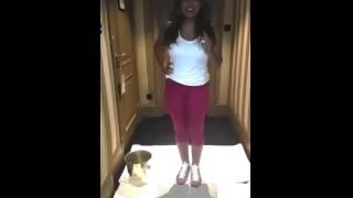 شذى حسون تقبل تحدي دلو الثلج Shatha Hassoun accept ALS ice bucket challenge