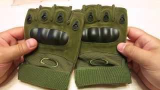 Тактические перчатки без пальцев Oakley - обзор посылки с Aliexpress