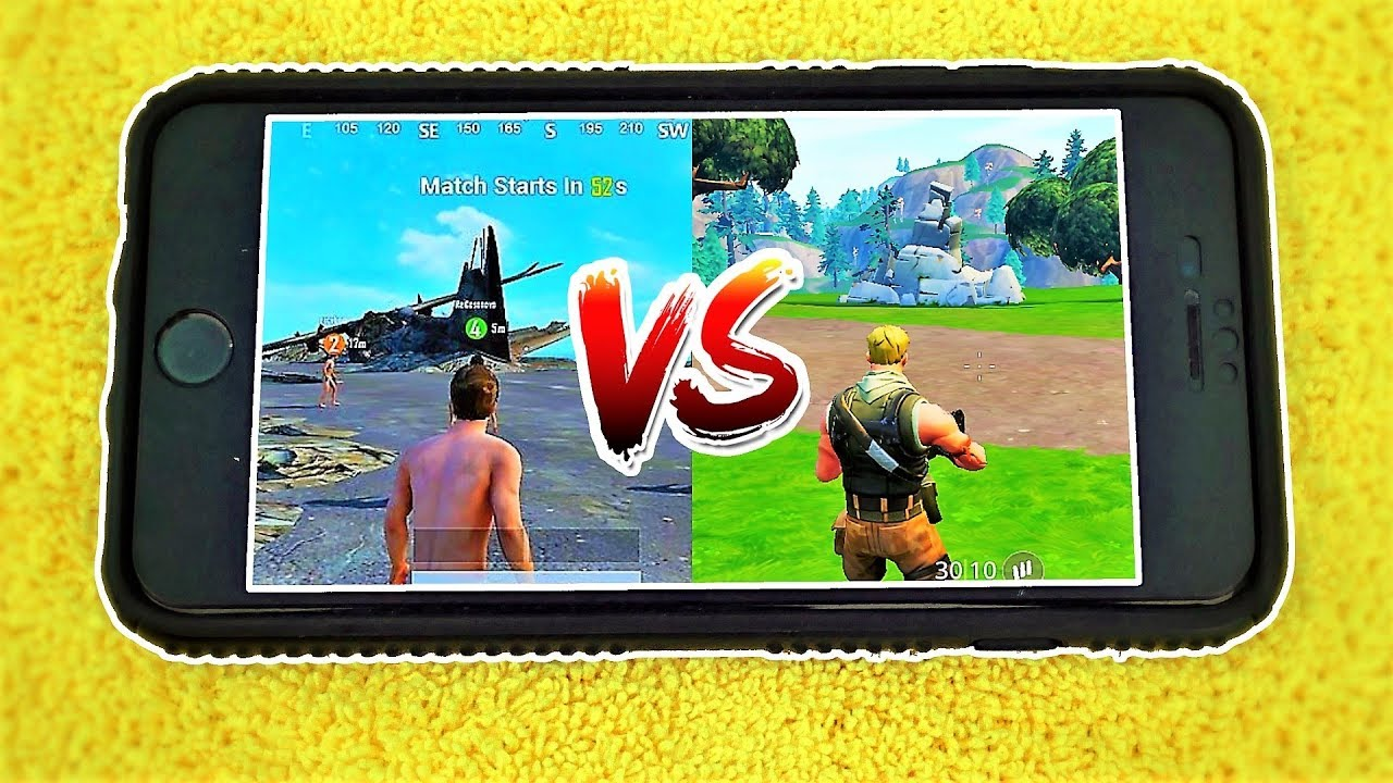 Fortnite Mobile Vs Pubg Mobile Comparison Youtube