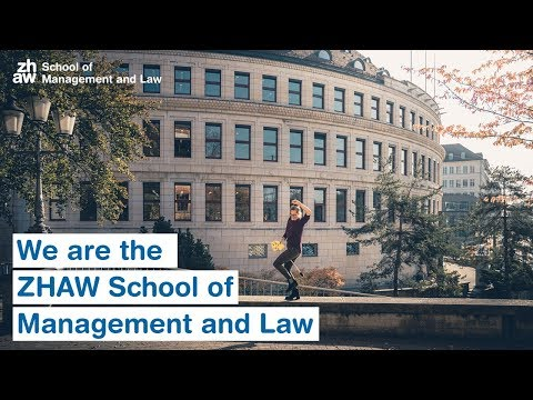 We are the ZHAW School of Management and Law