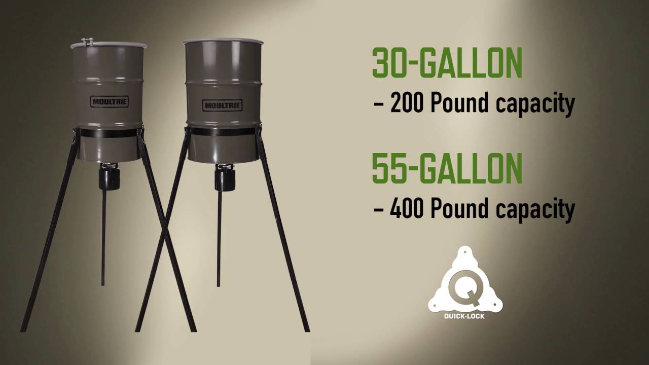 hinge da close gallon feeder top lid view deer barrel up with