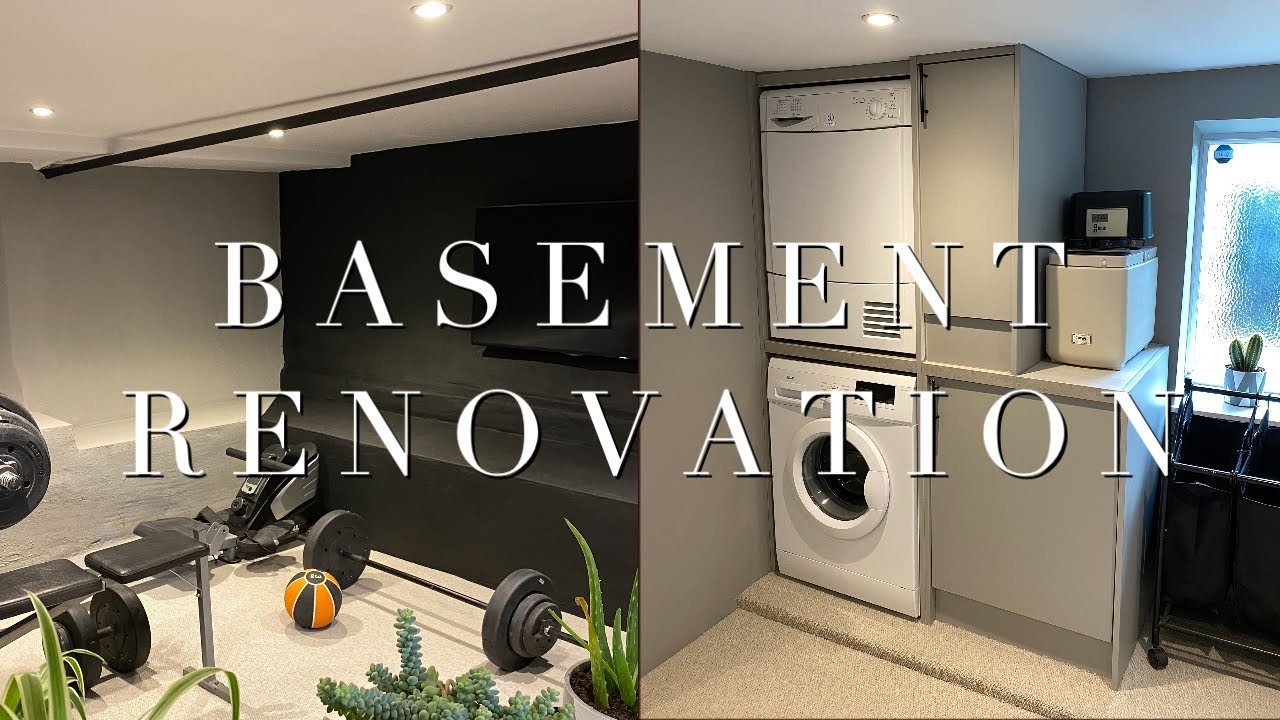 Basement Renovation Before During After You