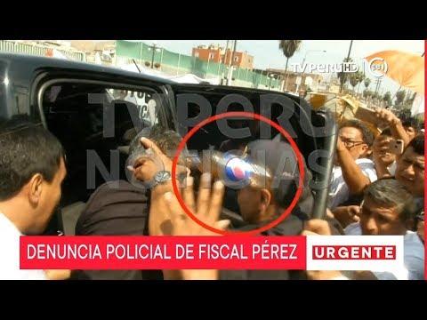 José Domingo Pérez presenta denuncia policial por agresiones físicas y verbales