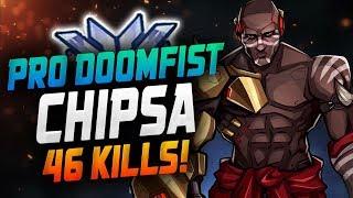 Chipsa Pro Doomfist! 46 Elims! [ OVERWATCH SEASON 15 TOP 500 ]