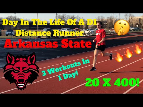 A Day In The Life Of A D1 Distance Runner | Arkansas State