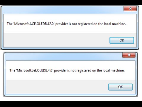 [Solved]The 'Microsoft.Jet.OLEDB.4.0' provider is not registered on the local machine.