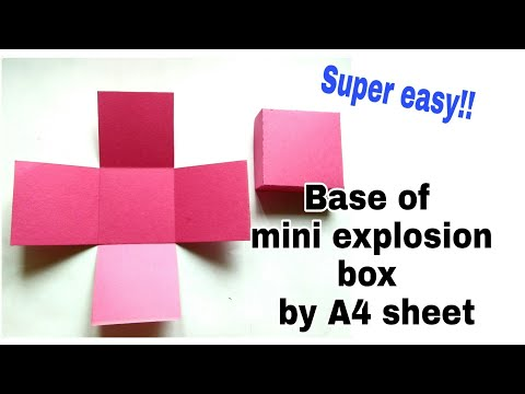 How to make the base of mini explosion box by using A4 sheet/ simple and easy way