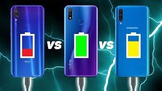 Đọ tốc độ sạc pin Realme 3 Pro vs Redmi Note 7 vs Galaxy A50: BẤT NGỜ!!!
