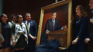 Former N.J. Governor Chris Christie's official portrait revealed.