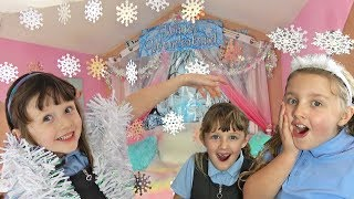 KID SURPRISES BIG SISTER with a CHRISTMAS BEDROOM MAKEOVER!!