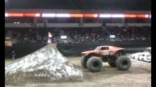 Larry Quick backflips his Dare Devil monster truck in Dodge City, KS!