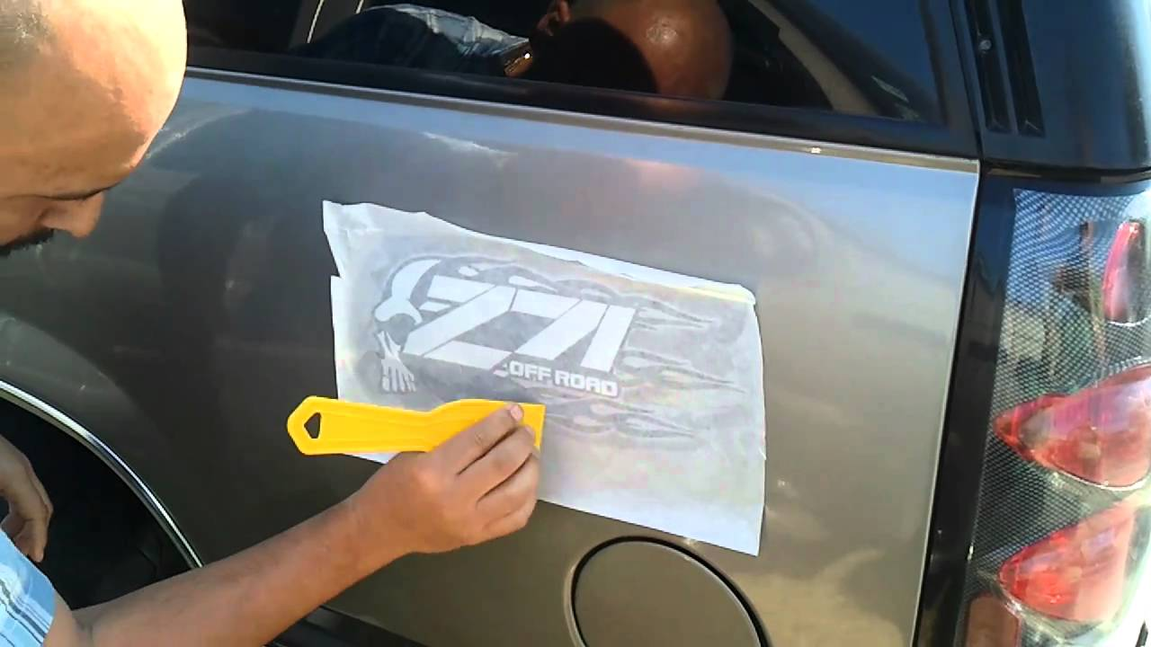 Car decal sticker install