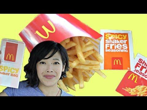 🇦🇺AUSTRALIAN McDonald's SHAKER FRIES - Spicy & Cheeseburger Flavors Taste Test