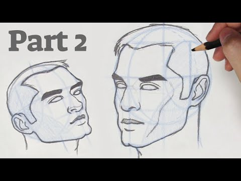 How To Draw A Face From Any Angle Part 2 The 3 4 View Youtube