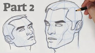 how to Draw a Face in 3/4 View ♡| by Christina Lorre'