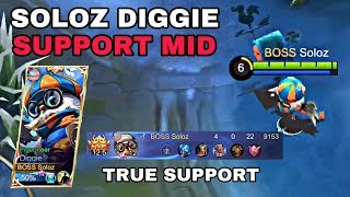 DIGGIE THE TRUE SUPPORT DUO LANE + GAMEPLAY