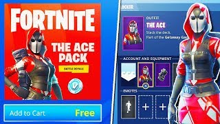 "NEW ""STARTER PACK"" ACE SKIN GAMEPLAY! - NEW Fortnite UPDATE! (Fortnite Battle Royale Live Gameplay)"