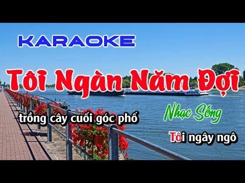 TÔI NGÀN NĂM ĐỢI KARAOKE NHẠC SỐNG 2019 BEAT HAY ( toi ngan nam doi karaoke )