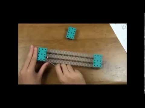 to make a zig zag rainbow loom celet