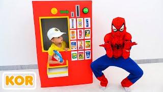 블라드와 니키타 슈퍼 히어로 자동 판매기 어린이 장난감 이야기