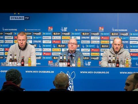 18. Spieltag   MSV -SGD   Pressekonferenz nach dem Spiel