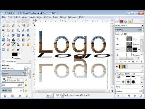 creer un logo transparent avec gimp