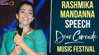 Rashmika Mandanna Speech Dear Comrade Music Festival Vijay Deverakonda Bharat Kamma MMM