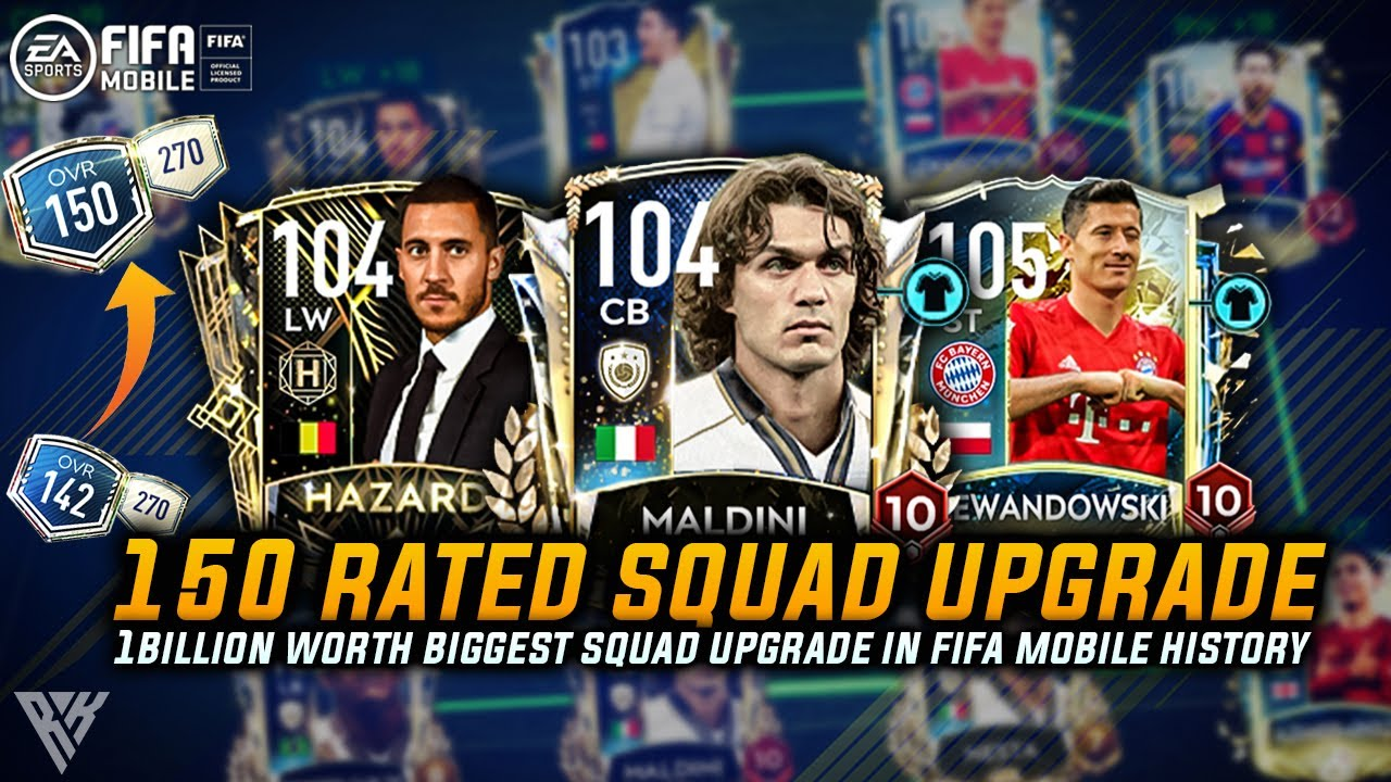 OMG! 150 RATED SQUAD UPGRADE | MOST EXPENSIVE TEAM UPGRADE IN FIFA MOBILE HISTORY | ALL 103+ PLAYERS