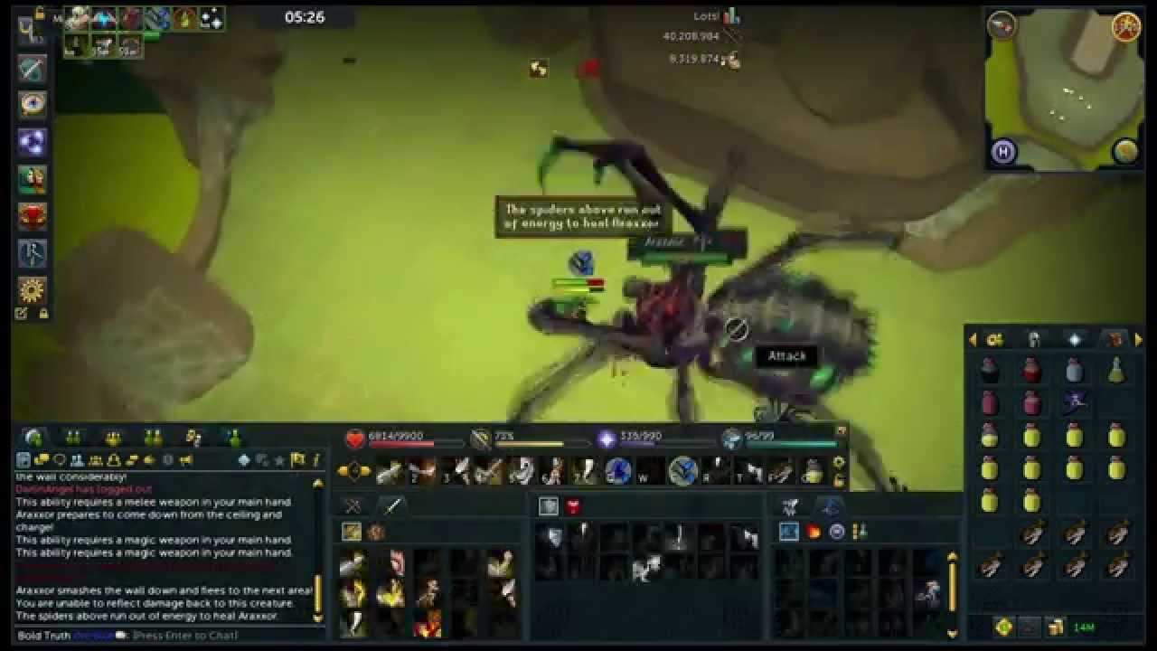 Runescape Araxxor With Bandos Chaotic Maul And War Tortoise