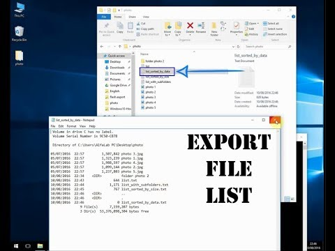 Export file and folder list with PowerShell