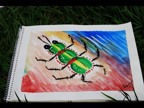 simple poster color bug painting beginners kids youtube - Colour Painting For Kids